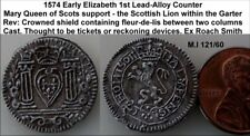 1574 Elizabeth 1st / Mary Queen of Scots Counter in High Grade. (WSC-5777)