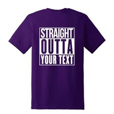 NEW STRAIGHT OUTTA YOUR TEXT CITY PERSONALIZED CUSTOM PRINT T-SHIRT COMPTON TEE