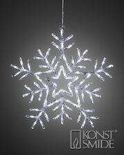 Noël 58cms acrylique Flocon de neige 90 Blanc Froid Eclairage LED décoration