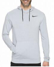 Nike Mens Hoodie Classic Light Gray Black Size Medium M Dry Training $59- 488