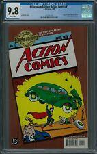 MILLENNIUM EDITION: ACTION COMICS #1 CGC 9.8 (2/00) DC Comics gold foil