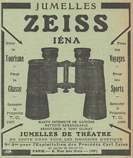 Z8285 Jumelles ZEISS Iéna - Pubblicità d'epoca - 1914 Old advertising