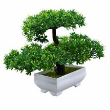 US Artificial Bonsai Plant Fake Resin Pine Pinus Green Tree Office Home Decors