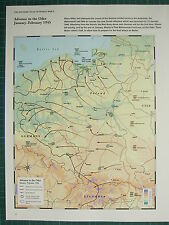 WW2 WWII MAP ~ ADVANCE TO THE ODER JAN-FEB 1945 SOVIET ADVANCE ENCLAVES