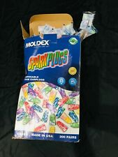 Moldex Ear Plugs Sparkplugs Noise Reduction 33dB Disposable Approx 200 Pr New