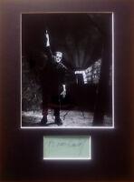 Authentic BORIS KARLOFF AUTOGRAPH signed 1950s London Frankenstein Horror