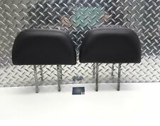 1993-1998 JEEP GRAND CHEROKEE FRONT SEAT HEADREST SET HEAD RESTS BLACK LEATHER
