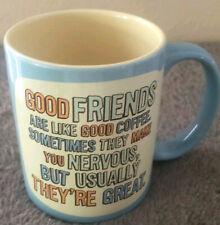 Good Friends Are Like Good Coffee Collectible Hallmark Mug- New