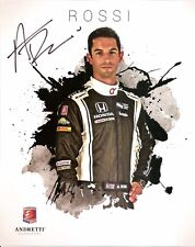 2016 ALEXANDER ROSSI signed INDIANAPOLIS 500 100th WIN HERO PHOTO CARD INDY CAR