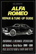 Alfa Romeo Giulietta Giulia 2000 1600  Owners Workshop Repair Manual BOOK