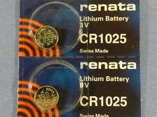 Renata  CR1025 Lithium 3V Swiss Made  Battery ,2Pcs