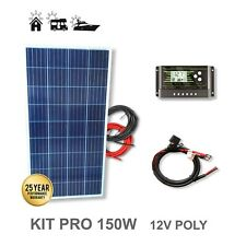 Viasolar KIT 150W PRO 12V Panel Solar y Regulador (2112KPPP150M5)