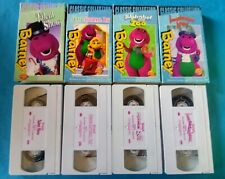 Lot Of 4 Barney Classic Collection VHS Videos: Island, Alphabet Zoo, Talent Show