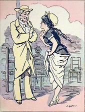 ATTENDRE un BÉBÉ: EFFET du BORD de MER - Caricature humoristique d'Alfred Grévin