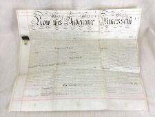 More details for 1864 antique legal document deed indenture hand written calligraphy copperplate