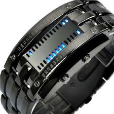 Cool Waterproof Unisex Stainless Steel Date Digital LED Bracelet Sport Watches