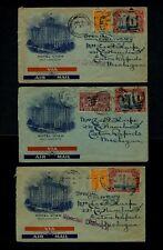 THREE July 1930 HOTEL UTAH, Salt Lake City, UT Covers to Eaton Rapids, Michigan
