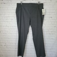 NEW Coral Bay Womens Dress Pants Plus Size 24 Gray Comfort Waistband Stretch NWT
