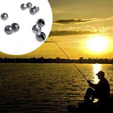 10Pcs/Pack Round Shape Split Shot Sinker Fishing Tackle Weight 0.5/0.8/1.0/2.0g