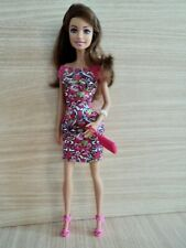 Barbie Fashionistas STYLE Collectable Doll with Brown Hair in a Floral Dress