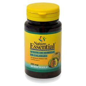 ACEITE DE SEMILLA CALABAZA  500 mg. 50, 100, 150 o 250 Perlas - NATURE ESSENTIAL