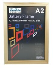 Seawhite Natural A2 Mounting Frames Gallery Picture Photo Frame Wood (1/3/5/10)