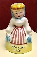 Vintage Napco Kleanser Kate Powdered Cleanser Shaker / Dispenser K2356 1940s/50s