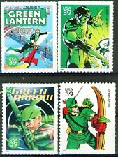 Green Lantern & Green Arrow Set 4 MNH US Postage Stamps Scott's 4084 B D L & N