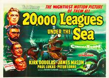20,000 Leagues Under The Sea 1954 A3 High Quality Art Print