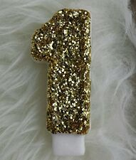"3"" FANCY HANDMADE GLITTER BIRTHDAY PARTY CANDLE UPICK ANNIVERSARY. USA"