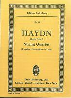 Haydn ~ String Quartett C Dur Op. 54 No. 2 ~ Taschenpartitur