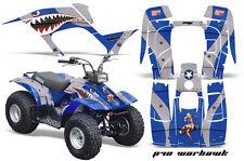 Atv Kit Graphique Quad Autocollant pour Yamaha Breeze 125 89-04 Warhawk Blu