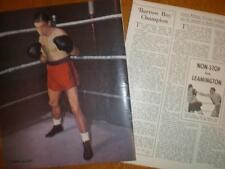 Photo article UK Fly-weight boxer Terry Allen 1951