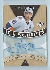 JOHN TAVARES 2012/13 TRILOGY ICE SCRIPTS AUTOGRAPH AUTO