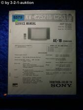 Sony Service Manual KV C2521D /C2531D Color TV (#5579)