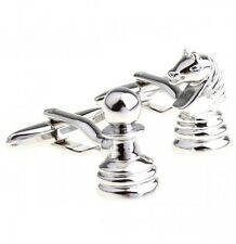Chess Board Game Pawn Queen King Game Board Gift Cufflinks Novelty £25 UK K8