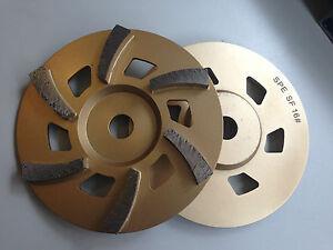 "7"" (175mm) 6 segment low profile cup wheel 16# soft - concrete grinding"