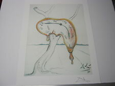 "Salvador  Dali Lithograph "" Tearful Soft Watch "" Plate-Signed"