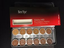 Ben Nye Matte HD Foundation 12 Color Essential Palette BFP-12 for Olive / Brown
