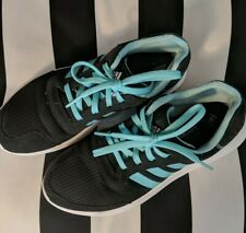Adidas Cloudfoam Women's Running Shoes Size 8 Black and Blue Tennis