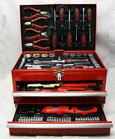 Mannesmann M29066 Caja de Herramientas de Taller Equipada con 155 Piezas NUEVO