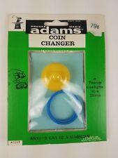 #17 Vintage 1958 Adams Pranks Magic Trick Novelty Toy Coin Catcher Green