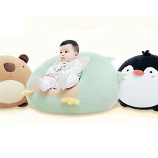 Particle Stuffed Soft Kids Chair Cushion Big Round Animals Penguin Pig Bear Owl
