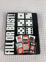 Vintage Fill or Bust 1981 Card Dice Game New Never Played Complete Fill or Bust