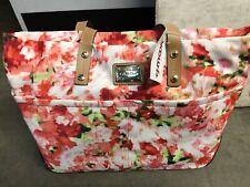 Calvin Klein Signature Pink Flowers Tote Handbag Medium