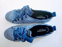 Sperry Top-Sider Women's Size 7 Crest Vibe Gingham Blue Memory Foam New In Box