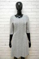 HUGO BOSS Donna Taglia M Abito Vestito Manica 3/4 Grigio  Tubino Dress Women's