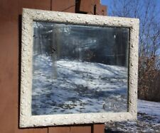Vintage French Country Shabby Chic Framed Mirror 24 x 21 Wooden Picture Frame