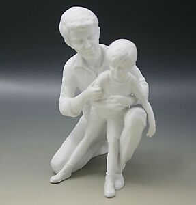 KAISER W. GERMANY BISQUE PORCELAIN FATHER AND SON SCULPTURE GAWANTKA LIMITED ED