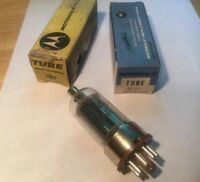 Motorola 2E24 Electron Vacuum Tubes Lot Of 2 Radio Parts Repair Ham TV Made USA